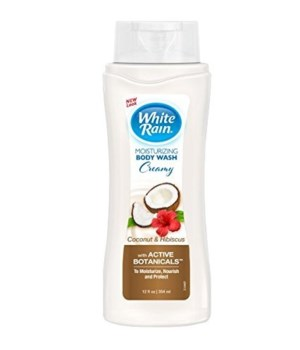 WHITE RAIN® MOISTURIZING BODY WASH 12oz- COCONUT & HIBISCUS- 6/CS