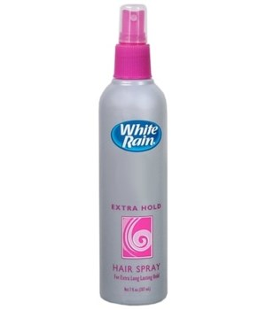 WHITE RAIN® PUMP NON AEROSOL HAIR SPRAY 7oz- EXTRA HOLD SCENTED- 12/CS