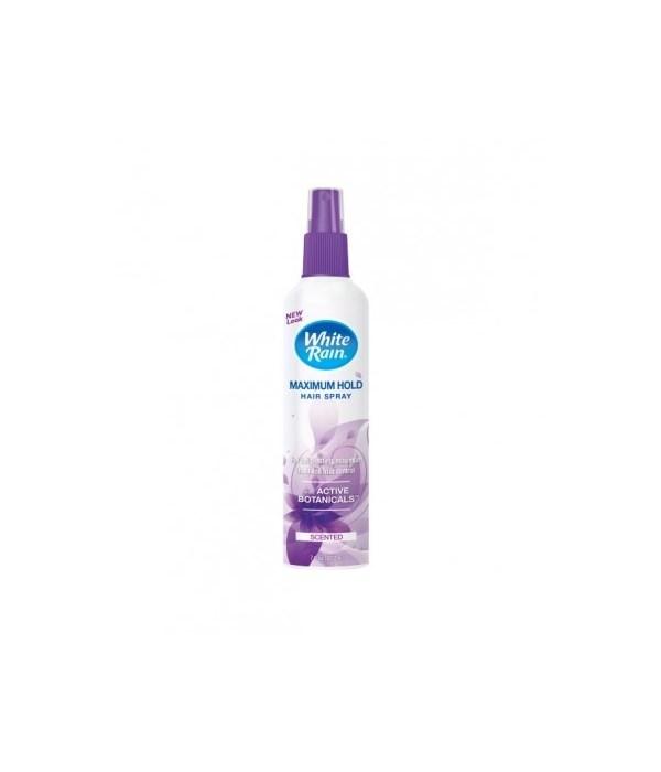 WHITE RAIN® PUMP HAIR SPRAY 7oz- MAXIMUM HOLD SCENTED- 12/CS
