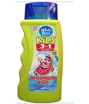 WHITE RAIN® KIDS 3-IN-1 SH/CD/BW 12oz- WATERMELON WAVE- 6/CS