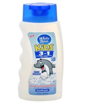 WHITE RAIN® KIDS 3-IN-1 SH/CD/BW 12oz- PURE SPLASH- 6/CS