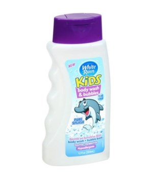 WHITE RAIN® KIDS 2-IN-1 BODY WASH & BUBBLE BATH 12oz- PURE SPLASH- 6/CS
