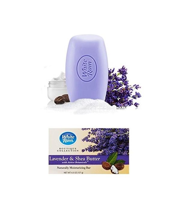 WHITE RAIN® BAR SOAP 4oz LAVENDER & SHEA BUTTER- 12X2PK/CS