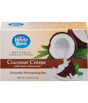 WHITE RAIN® BAR SOAP 4oz- COCONUT CREAM- 12X2PK/CS