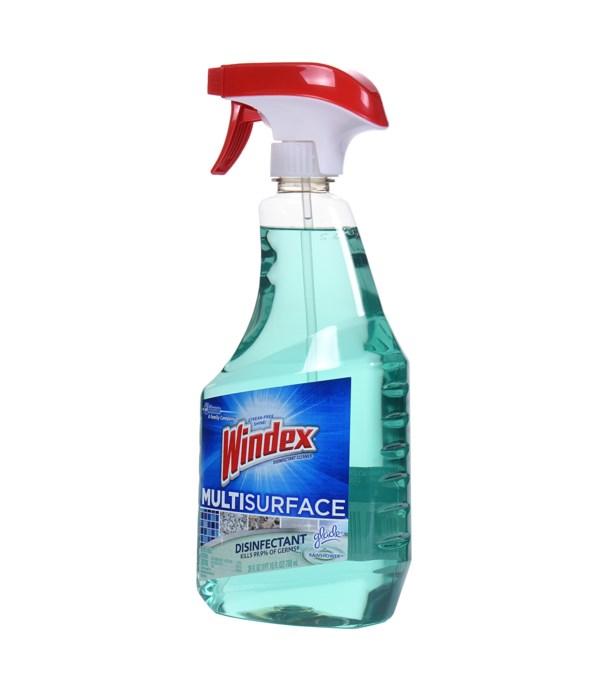 WINDEX® GLASS CLEANER SPRAY 26 OZ- CRYSTAL RAIN- 8/CS