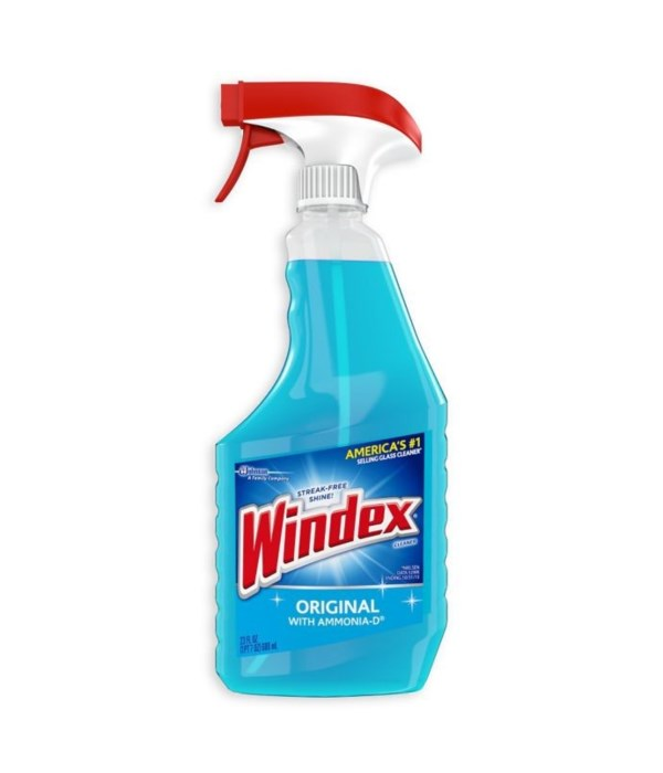 WINDEX® LIQUID PUMP 23 OZ- ORIGINAL BLUE- 12/CS