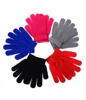 WINTER® MAGIC GLOVES- KIDS ASSORTED COLORS - 12X12 = 144/CS