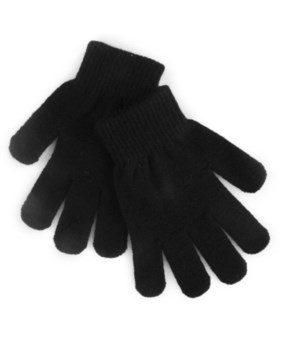 WINTER GLOVES - WOMEN'S BLACK - ONE SIZE FITS ALL (144 PER CASE)