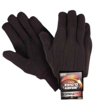 PRO TOUCH® WORK GLOVES BROWN JERSEY 12'S
