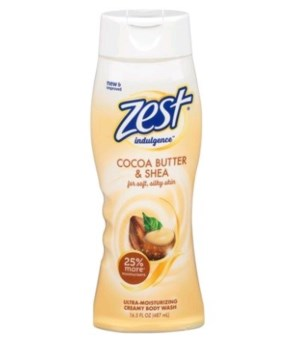 ZEST® BODY WASH 16.5oz- INDULGENCE COCO BUTTER & SHEA- 6/CS