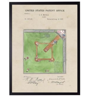 Watercolor Baseball game patent