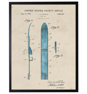 Watercolor water ski patent