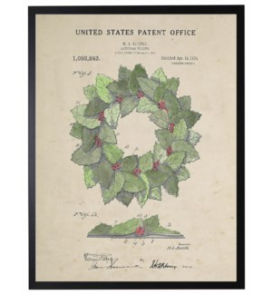 Watercolor Holiday wreath patent
