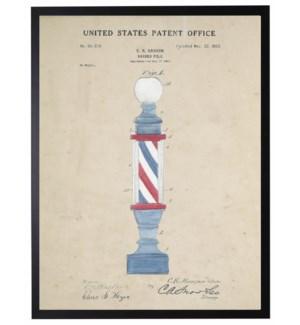Watercolor barbershop pole patent