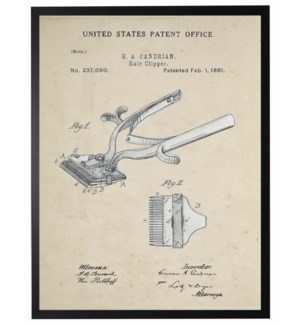 Watercolor barbershop clippers patent