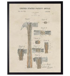 Watercolor brown hammer patent