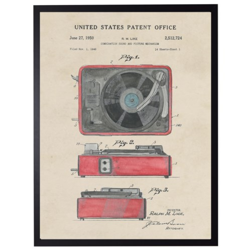 Watercolor Record Player Patent