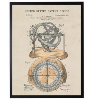 Watercolor Patent Compass