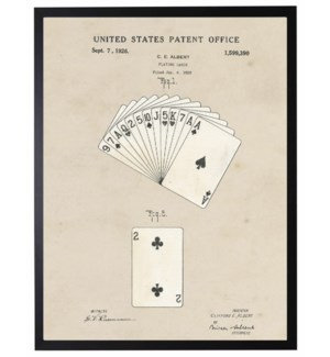 Watercolor Patent Playing Cards