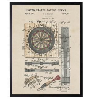 Watercolor Patent Dart Board