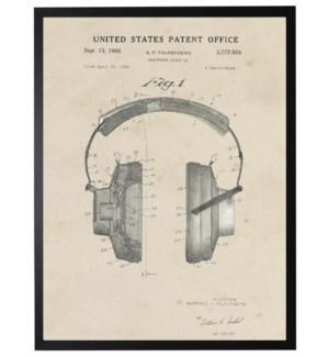 Watercolor Patent Head Phones