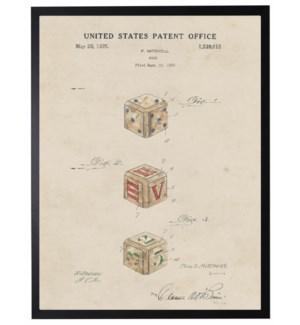Watercolor Patent Baby blocks