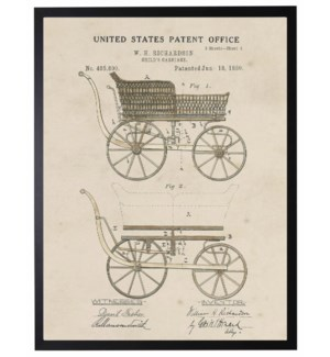 Watercolor Patent Baby Carriage
