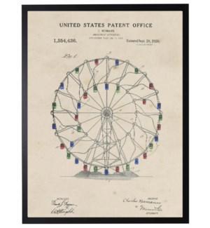 Watercolor Patent Ferris Wheel