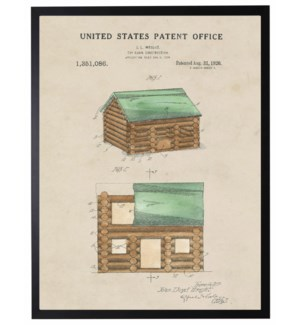 Watercolor Patent Lincoln logs