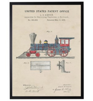 Watercolor Patent Toy Train