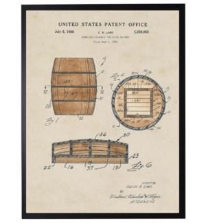 Watercolor Beer Barrell Patent