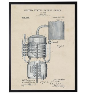 Watercolor Whiskey Still Patent