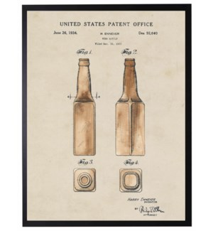 Watercolor Beer Bottle Patent