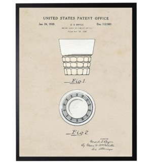 Watercolor Whiskey Glass patent
