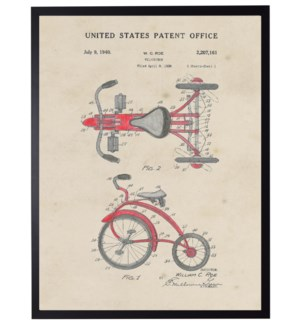 Watercolor Red tricycle patent