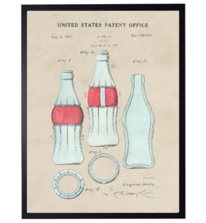 Watercolor Coke bottle Patent