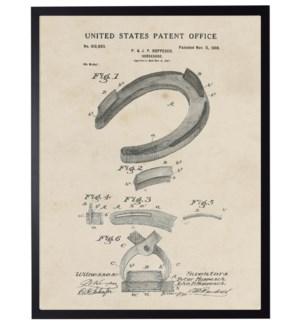 Watercolor Horseshoe Patent