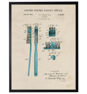 Watercolor blue toothbrush patent