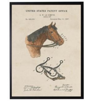 Watercolor Horse Bridle Patent