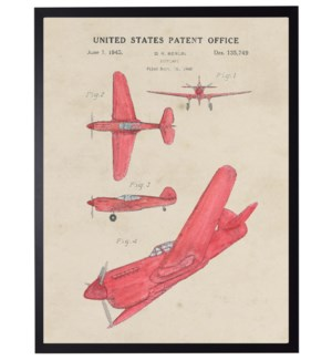 Watercolor Airplane Patent