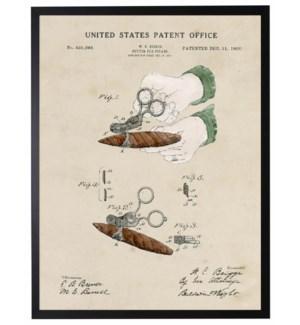 Watercolor cigar cutter patent