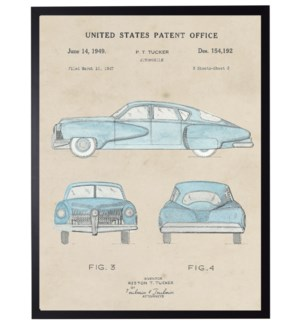 Watercolor P.T. Tucker Automobile Patent