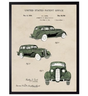 Watercolor  Automobile Patent