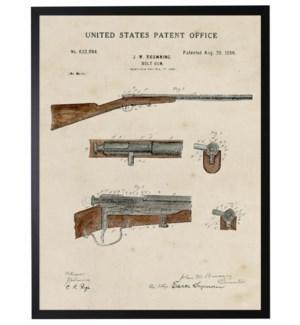 Watercolor brown rifle patent