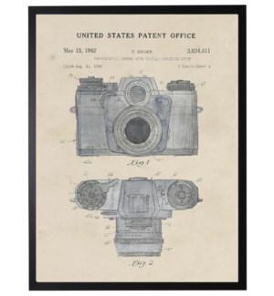 Watercolor E. Sauer Camera Patent