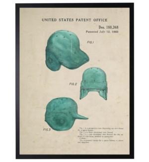 Watercolor teal baseball helmet patent