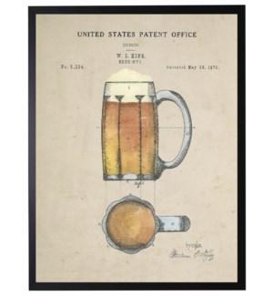 Watercolor beer mug patent