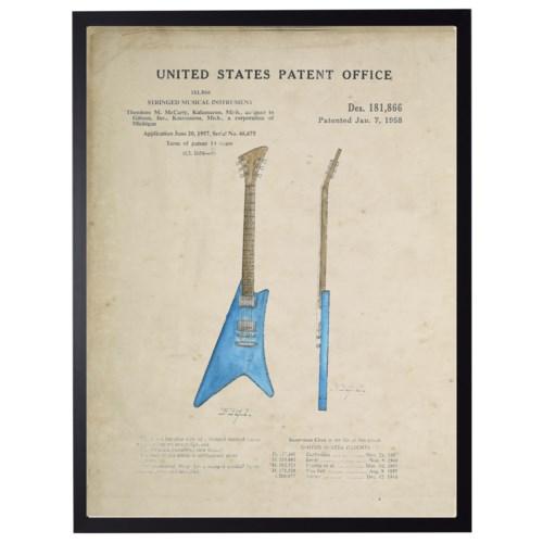 Watercolor Electric Guitar Patent