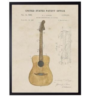Watercolor Acoustic Guitar Patent