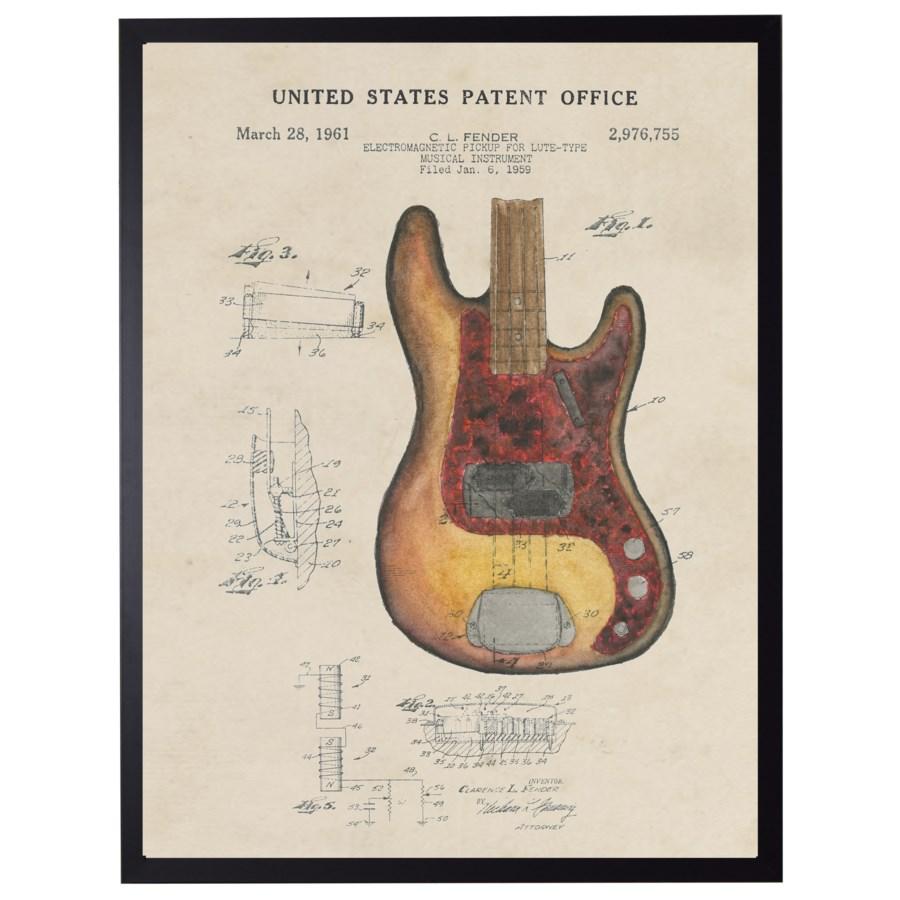 Watercolor Fender Guitar Patent